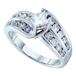 1.50CT Diamond Bridal 14KT Ring White Gold