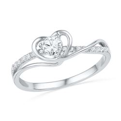 0.25CT Diamond Heart 10KT Ring White Gold