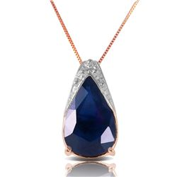 4.65 ctw Sapphire Necklace Jewelry 14KT Rose Gold