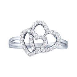 0.25CT Diamond Heart 14KT Ring White Gold