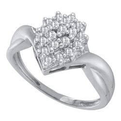 0.25CT Diamond Cluster 10KT Ring White Gold