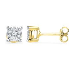 0.20CT Diamond Anniversary 10KT Earrings Yellow Gold