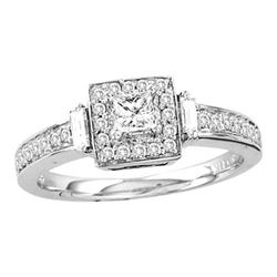 0.50CT Diamond Bridal 14KT Ring White Gold