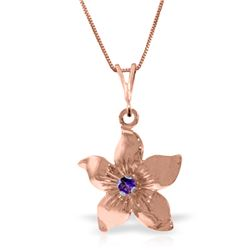 0.10 CTW Amethyst Necklace Jewelry 14KT Rose Gold