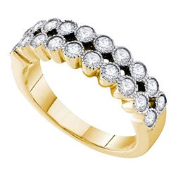 0.75CT Diamond Anniversary 14KT Ring Yellow Gold