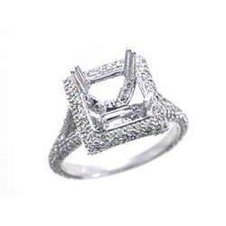 Genuine 14K White Gold 1.25CTW Diamond Semi Mount Ring - REF-108H8W