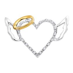0.05CT Diamond Heart 10KT Pendant 2Tone Gold