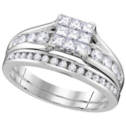 1.0CT Diamond Invisible 14KT Ring White Gold