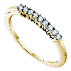 0.20CT Diamond Anniversary 14KT Ring Yellow Gold