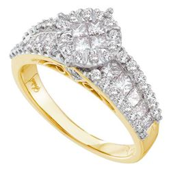 1.25CT Diamond Soliel 14KT Ring Yellow Gold
