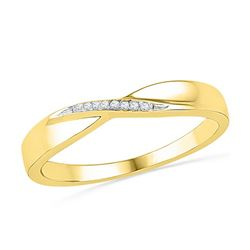 0.03CT Diamond Anniversary 10KT Ring Yellow Gold
