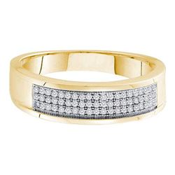 0.20CT Diamond Micro-Pave 10KT Ring Yellow Gold