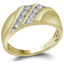 0.50CT Diamond Mens 10KT Ring Yellow Gold