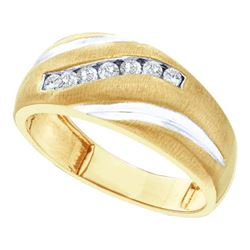 0.25CT Diamond Mens 14KT Ring Yellow Gold