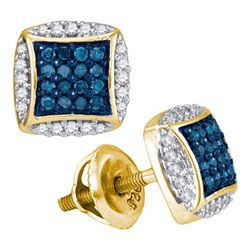0.35CT Diamond Micro-Pave 10KT Earrings Yellow Gold