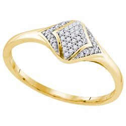 0.10CT Diamond Anniversary 10KT Ring Yellow Gold