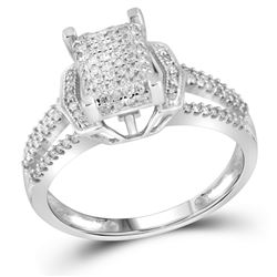 0.33CT Diamond Micro-Pave 10KT Ring White Gold