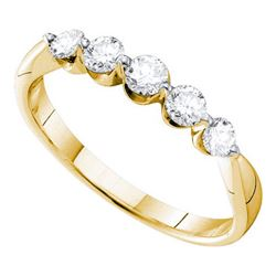 0.50CT Diamond 5-Stone 14KT Ring Yellow Gold