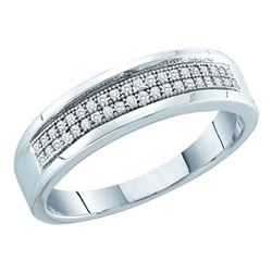 0.15CT Diamond Micro-Pave 10KT Ring White Gold
