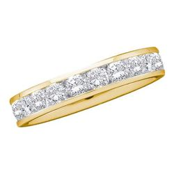 0.10CT Diamond Machine-Set 14KT Ring Yellow Gold