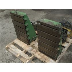 Devlieg Large Right Angle Plates With T-Slots, 2 Total