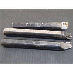 "3/4"" Shank Boring Bars, 3 Total"