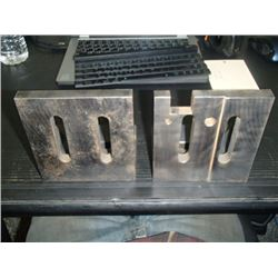 "Steel Right Angle Plates, Overall: 5"" x 4"" x 5.5"""