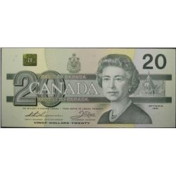 1991 - BC-58aA-i - 20 - Dollar - Replacement - Serial Number - EIX2237566