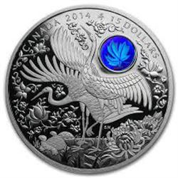 2014 - $15 Fine Silver Coin - Maple of Longevity