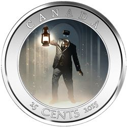 2015 - 25-cent Coin - Haunted Canada Series (Brakeman)