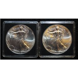 Lot of 2 - 2013 SILVER EAGLE