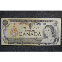 1973 - BC-46a-i - 1 - Dollar - Serial Number - EAN7589558 - Signature - Lawson/Bouey