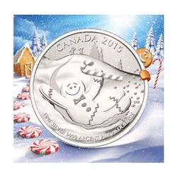 2015 $20 'Gingerbreadman' RCM Silver Proof Coin.