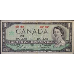 Lot of 10 - 1967 - BC-45a - 1 - Dollar Banknotes - Serial Number - 1867 1967