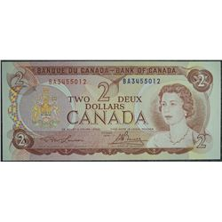 1974 - BC-47a - 2 - Dollar - Serial Number - BA3455012 - Signature - Lawson/Bouey
