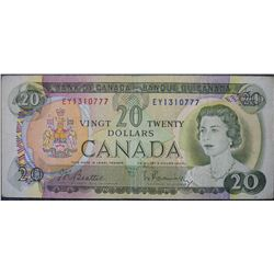 1969 - BC-50a - 20 - Dollar - Serial Number - EY1310777 - Signature - Beattie/Rasminsky