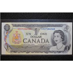 1973 - BC-46aA - 1 - Dollar - Replacement - Serial Number - *MZ7286585 - Signature - Lawson/Bouey