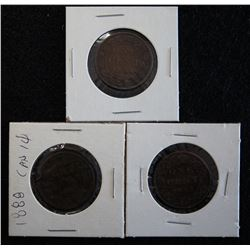 Lot of 3 - Victoria One Cents