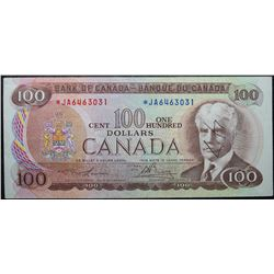 1975 - BC-52aA - 100 Dollar *JA Replacement Note - Serial Number *JA6463031