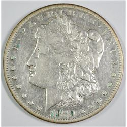 1879-CC MORGAN SILVER DOLLAR  CLEAR CC  XF WITH LUSTRE  KEY COIN!