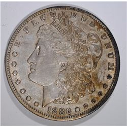 1886-O MORGAN SILVER DOLLAR, ORIGINAL AU
