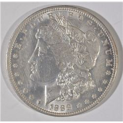 1888-O MORGAN SILVER DOLLAR, CHOICE BU+