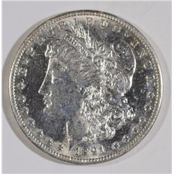 1891-S MORGAN SILVER DOLLAR, BU
