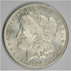 1891-CC MORGAN SILVER DOLLAR GEM BU NICE!