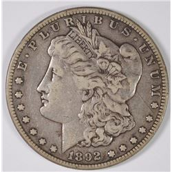 1892-S MORGAN SILVER DOLLAR, VF  KEY DATE