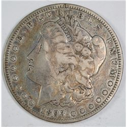 1893 MORGAN SILVER DOLLAR, VF  KEY COIN