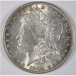 1896 MORGAN SILVER DOLLAR, CHOICE BU