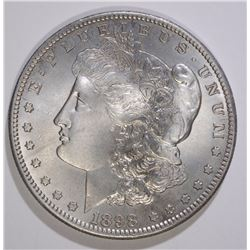 1898-S MORGAN SILVER DOLLAR, CHOICE BU cleaned toned  RARE!!