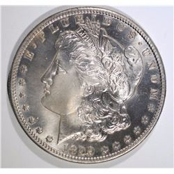 1899-S MORGAN SILVER DOLLAR, CHOICE BU cleaned toned RARE!!