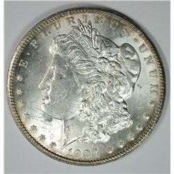 1904-O MORGAN SILVER DOLLAR, CHOICE BU